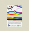 Front And Back Rainbow Stripes VIP Member Card vector image