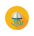 Jellyfish flat icon Summer Vacation vector image