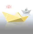 paper boats vector image