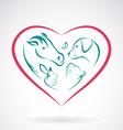 Pet Heart vector image
