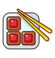 sushi icon cartoon style vector image