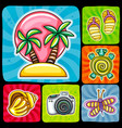 swirl vacation icon or sticker set tropical vector image