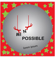 two men change the word impossible vector image