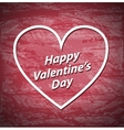 Valentines Day red grunge background with white vector image