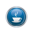 Hot cup button vector image vector image