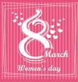 cute cartoon greeting card happy women s day vector image