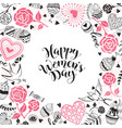 women day card vector image