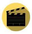 film clap board cinema sign  flat black vector image