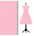 women dress fabric with pink pattern vector image
