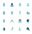people colorful icons set collection of bags vector image