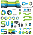 Infographics design elements and icons vector image vector image