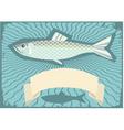herring poster vector image