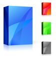 cd box of different colors vector image vector image