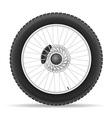 motorcycle wheel 03 vector image vector image