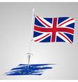 color united kingdom flag european union flag vector image