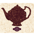 Floral Teapot vector image vector image