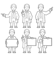 Character IT specialist scientist doctor vector image