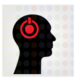 Creative silhouette head sign vector image