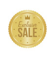 exclusive sale gold sign round label vector image