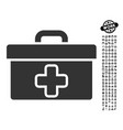 First aid toolbox icon with work bonus vector image