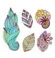 Floral collection in zentangle style Hand drawn vector image