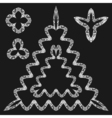 hand drawn doodle frames vector image