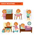 kids on their daily goings vector image