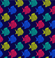 pattern of fish Decorative Colorful Cute vector image