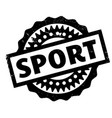 sport rubber stamp vector image
