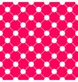 White Polka dot Chess Board Grid Hot Pink vector image