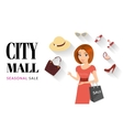 Woman doing shopping vector image