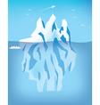 iceburg vector image