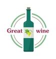 Great Wine Botlle Check Elite Vintage Light Wine vector image