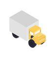 Modern freight truck isometric icon vector image