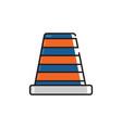 flat color traffic cones icon vector image vector image