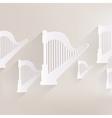 Harp icon Msic instruments vector image