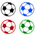 Painted soccer balls vector image vector image