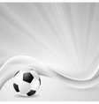 Soccer background with abstract waves vector image vector image