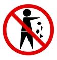 No littering vector image vector image