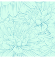 seamless pattern with blue dahlia flowers vector image