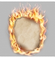 Burning sheet of paper EPS 10 vector image vector image