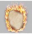 Burning sheet of paper EPS 10 vector image