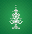 Christmas Tree Ornament vector image