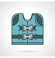 Flat design icon for life jacket vector image
