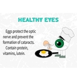 Info about the benefits of eggs for eyesight vector image