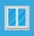 plastic modern window vector image