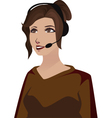 Telephone woman vector image