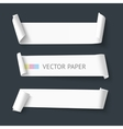 White realistic detailed paper banners vector image