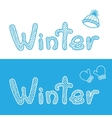 Winter bacgrounds with cap and mittens vector image