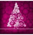 Christmas Ornamental Tree Background vector image